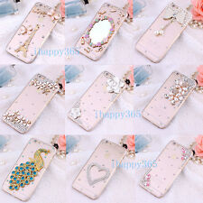 Crystal Bling Diamond Rhinestone Hard Case Cover For iPhone 5 5S 5C 6 6S 7 &Plus
