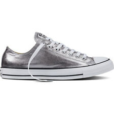 Converse Chuck Taylor All Star Gunmetal Textile Trainers Shoes