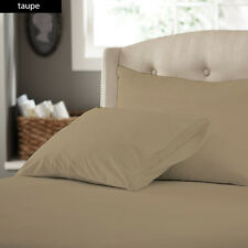 1000TC COMPLETE BEDDING COLLECTION 100% EGYPTIAN COTTON (TAUPE SOLID) ALL SIZE