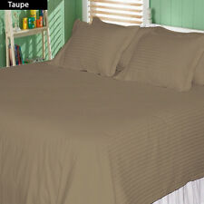 1000TC COMPLETE BEDDING COLLECTION 100% EGYPTIAN COTTON (TAUPE STRIPE) ALL SIZE
