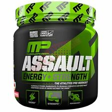 Muscle Pharm ASSAULT PREWORKOUT 30Serve-Green Apple,Strawberry Ice Or Watermelon