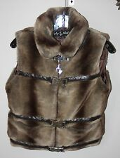Womens Faux Fur Animal Print Vest by baby phat – Size S – (Barely Worn!)