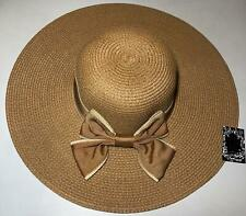 New Women's Crushable Packable Wide Brim Straw Floppy Hat SPF50 Protection Bow
