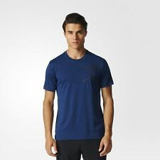 adidas Performance MEN'S TRAINING FREELIFT TEE,COLLEGIATE NAVY-Size S,M, L Or XL