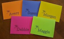 Dragonfly Custom Personalized Name Note Cards & Thank Yous ~ You Choose Color!