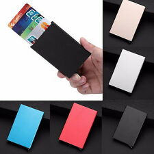 Mens Womens Aluminum Slim ID Credit Card RFID Protector Holder Purse Wallet