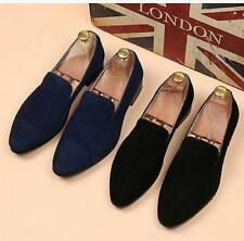 Hot Men's Casual Formal Dress Slip On Pointed Loafer Stylish Swede Leather Shoes