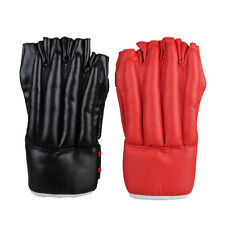 1 Pair Half Finger Sparring Training Boxing Gloves PU Leather Punching Sand Bag