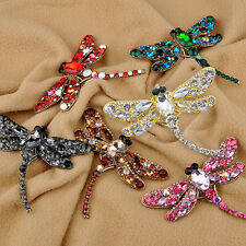 WOMEN'S FASHION DRAGONFLY CRYSTAL BROOCH VIVID RHINESTONE PIN JEWELRY COMELY