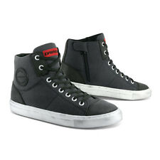 All New!! Dririder Urban Canvas Leather Motorcycle Boots Charcoal Sizes 39 - 46