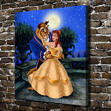 Oil Painting HD Print Wall Decor Art on Canvas Beauty and the beast unframed