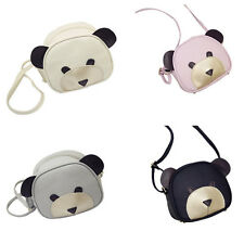 1Pcs PU Leather Girl's Handbags Shoulder Bag Women Cute bear face Messenger bag