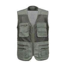 Men Multi-Pocket Fishing Hunting Mesh Vest Outdoor Photography Travel Jacket