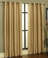1 Panel Blackout Curtain Lined Grommet Window Drape Solid Thermal DARK GOLD New