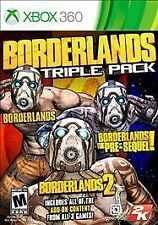 Borderlands (1, Pre-Sequel, 2) Triple Pack Xbox 360 NEW SEALED 3 in 1 + All DLC!