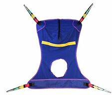 NEW Full Body Mesh Patient Lift Sling WITH COMMODE OPENING INVACARE COMPATIBLE