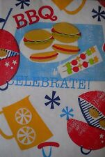 New Summer Fun Vinyl Table cloth BBQ Barbecue Theme Oblong Rectangle Rnd Square