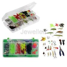 Fishing Tackle Set 101 Mixed Lure Bait Soft Worm Jig Head Hooks Fishing Tool