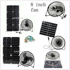 solar fan 8 inch  11w  &12w 20W 24w for Home free power cooling ventilation