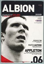 West Bromwich Albion HOME PROGRAMMES 1960s/1970s/1980s/2000s - Choose from list