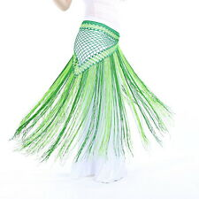 Belly Dance Costume Tribal Tassel hip scarf wrap belt Skirt Fringes 13 colors ER