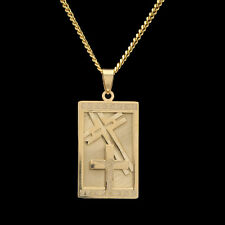Jesus Cross Dog Tag Stainless Steel Hip Hop Pendant Chain Necklace