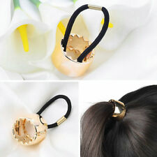 Girls Hair Band Metal Hair Wrap Pony Tail Holder Ring Rope Circle Accessory ZM