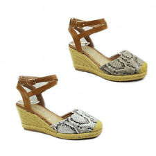 WOMENS LADIES PLATFORM WEDGE HEEL ESPADRILLES SHOES SANDALS SIZE 3-8