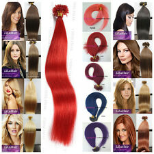 50/100S Pre Bonded U/Nail tip Keratin 100% Remy Human Hair Extensions 16-26Inch
