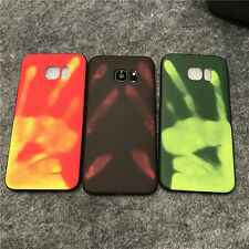 Phone Cases For Samsung S6 S7 S8 plus Soft Physical Thermal Sensor Color Changed