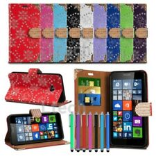 Sony Xperia E4g Glitter Bling Encrusted Diamond Tab Wallet Cover & Stylus Pen