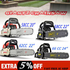"Petrol Commercial Chainsaw 22""/24""Bar E-Start Chain Saw 3 Pruning 58/62/66/82 CC"