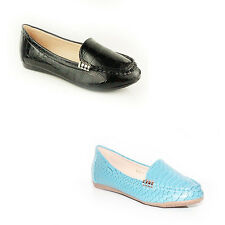 WOMENS LADIES CASUAL COMFY SLIP ON FLAT LOAFERS MOCCASINS PUMPS SHOES SIZE 3-8