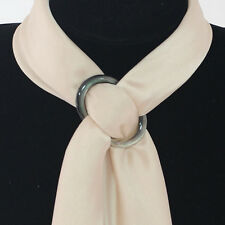 Fashion Natural Shell Scarf Ring for Silk Scarves Buckles Brooch Ladys Gifts NEW