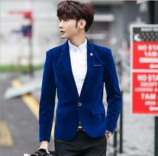 Mens Velvet Blazer Jacket Smart Slim-Fit Blazers Coat Tuxedo Wedding coat
