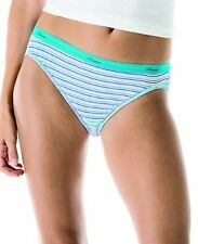 Hanes Womens Panties PP42CA 6-Pack No Ride Up Cotton Bikini Panty