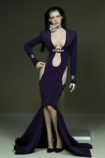 Phicen 1/6 Female Purple Long Dress Set With Accessories For Body