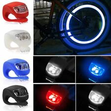 Mountain Bike Bicycle Front / Rear Light LED 3 Mode Silicone  Set Inc Batteries