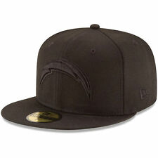 New Era San Diego Chargers Black on Black NFL 16' 59FIFTY Fitted Hat