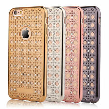 Gemstones Bling Diamond Soft Case Cover For iPhone 6/6s Rose Gold/Silver/Black