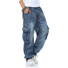 Mens Jeans Cargo Work Pants Relaxed Fit Big & Tall Casual Plus Size 30-46W 32L