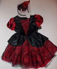 Black Maroon Witch Halloween Costume Dress 4 5 6 XS S Girl Children's Place