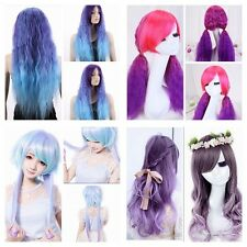 Sexy Women Fashion Long Wavy Curly Hair Cosplay Costume Party Full Wig/Wigs+GIFT