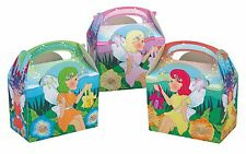 Childrens Kids Enchanted Fairy Birthday Party Box Bag Loot Favour Carry Boxes