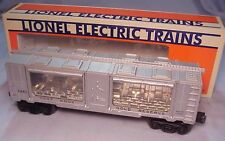 LIONEL #6445 FORT KNOX GOLD CAR POSTWAR SILVER BOXCAR w/WINDOWS/GOLD - VG+/R BOX