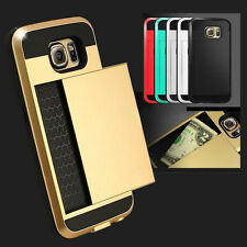 Hybrid New Shockproof Armour Hard Back Card Storage Slide Case Cover For Sumsang