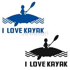 I LOVE KAYAK Stickers Funny Graphics Decal for Kayak Canoe Boat Car Window