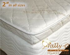 NEW TWIN Tally-O Talalay Mattress Pad with Quilted Organic Cotton Cover 38 X 75