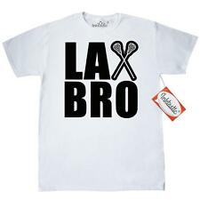 Inktastic Lax Bro T-Shirt Lacrosse Humor Sports Mens Adult Clothing Apparel Tees
