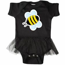 Inktastic Bumble Bee Infant Tutu Bodysuit Insect Bug Wings Black Yellow Summer
